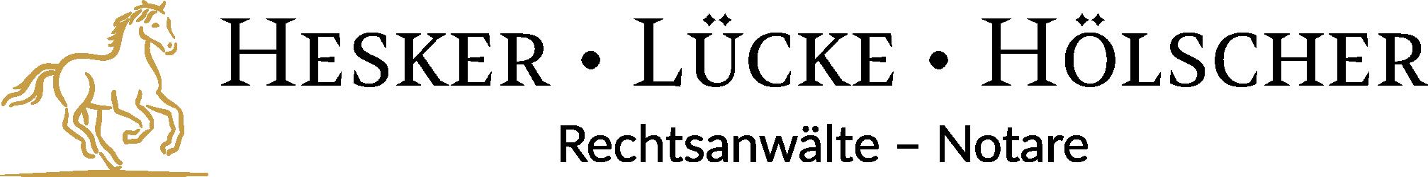 Logo-quer Hesker • Lücke • Hölscher | Rechtsanwälte - Notare